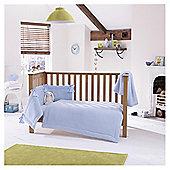 Clair de Lune 3pc Cot Bed Bedding Set (Honeycomb Blue)
