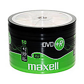 MAXELL 50 x DVD+R 4.7GB Blank Recordable Digital Discs