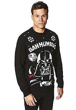 Star Wars Darth Vader Sound and Light-Up Christmas Jumper - Black