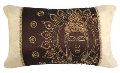Decorative Sunny Buddha Cushion Chocolate Gold