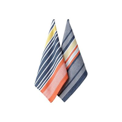 Ladelle Set of 2 Charlie Striped Tea Towels