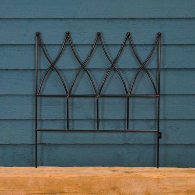 Steel Magnolia Lawn Edging Panel (45cm x 41cm)