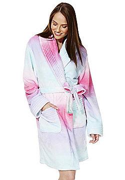 F&F Multicoloured Stitch Detail Dressing Gown - Multi
