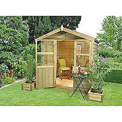 Forest Garden Charlebury Summerhouse - 6x6 Shiplap Apex Pressure Treated Installed