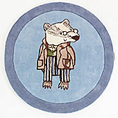 Brendan Badger Rug, Not Before Tea - 90 cm