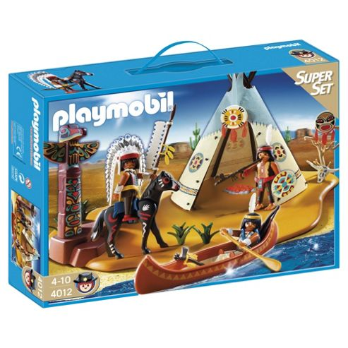 Playmobil 4012 Western Native American Camp Superset