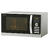 Sharp R842SLM Combination Microwave Oven, 25L  - Silver