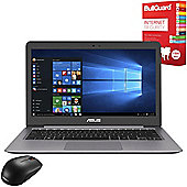 """ASUS ZenBook UX310UA-FC075T 13.3"""" Laptop Intel Core i3-6100U 4GB 128GB SSD Win10 with Internet Security & Mouse"""