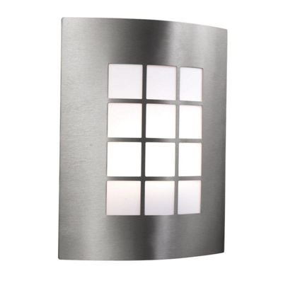 Outdoor & porch wall light - stainless steel 1 light