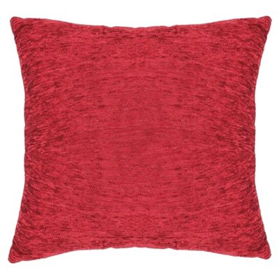 Tesco Plain Chenille Cushion, Berry