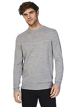 F&F Signature Merino Wool Crew Neck Jumper - Grey