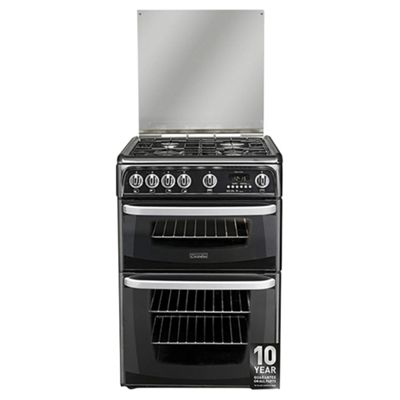 Hotpoint Cannon by Hotpoint Gas Cooker with Gas Grill and Gas Hob, CH60GCIK - Black