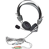 Manhattan 175517 Wired Stereo Headset - Over-the-head - Circumaural