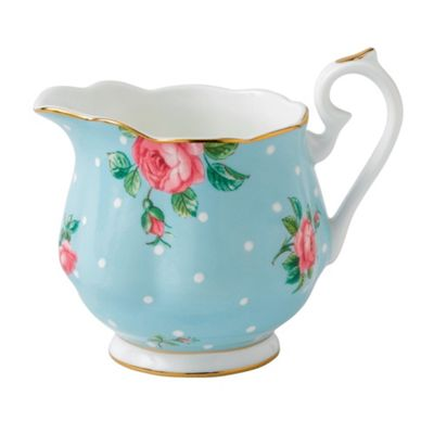Royal Albert Polka Blue Vintage Creamer 9cm