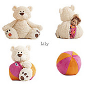 Buddy Ball Plush Cream Coloured Bear Lily
