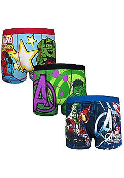 Marvel Avengers Assemble Boys Boxer Shorts 3 Pack - Multi