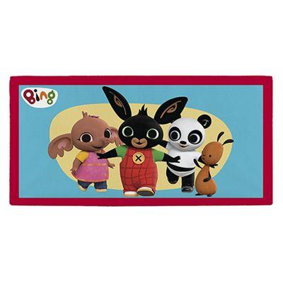 Bing Bunny 'Group' Velour Printed 100% Cotton Beach Towel