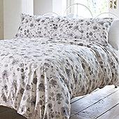 Grey Rose Single Bedding in 100% Cotton