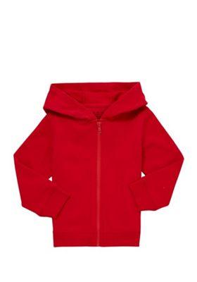 F&F Zip-Through Hoodie Red 12-18 months