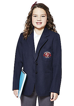 Girls Embroidered Blazer - Navy
