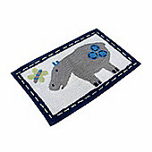 Homescapes Cotton Tufted Washable Hippo Children Rug