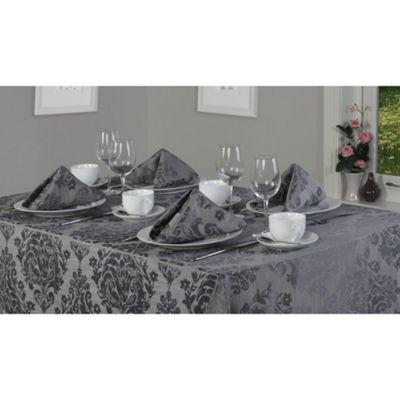 Hamilton Mcbride Palazzo Oblong Tablecloth 178x274cm - Pewter