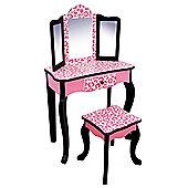 Teamson Kids - Leopard Vanity Table & Stool (Pink/Black)