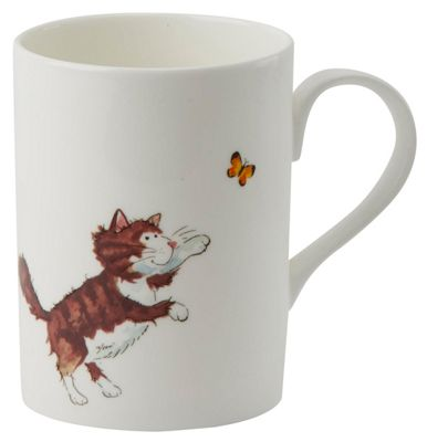 Roy Kirkham Lucy Mug Brown and White Cat