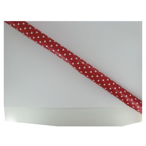 Valentines Red and White Heart rollwrap
