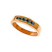 QP Jewellers 0.60ct Sapphire Princess Prestige Ring in 14K Rose Gold