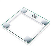 Beurer GS14 Glass Bathroom Scale With Aluminum Trim
