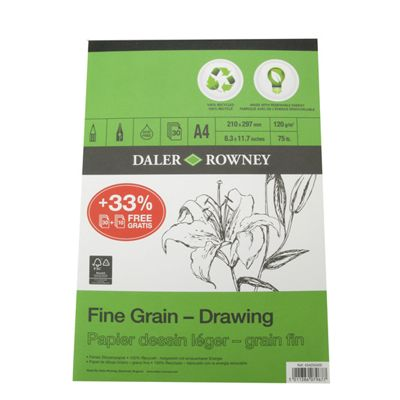 Daler Eco Pad Fine Grain Drawing Pad A4 120g