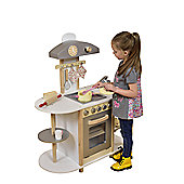 Liberty House Breakfast Bar Wooden Toy Kitchen with accessories