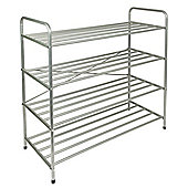 EHC 4 Tier Metal Shoe Rack Stand