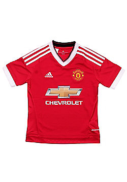 Manchester United FC Boys Long Sleeve Home Shirt - Red