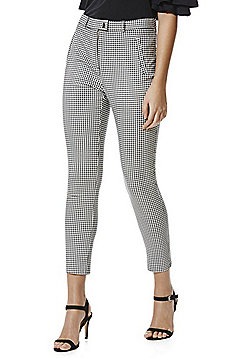 F&F Gingham High Rise Skinny Trousers - Black & White