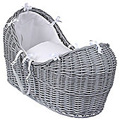Clair de Lune Grey Noah Pod Moses Basket (Waffle White)