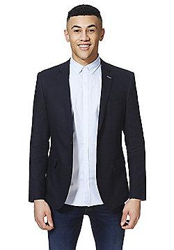 F&F Twill Regular Fit Jacket - Navy