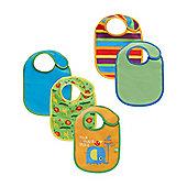 B Newborn's Safari Bibs - 3 Pack