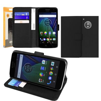 Orzly Moto G5 Multifunctional Wallet Case - Black