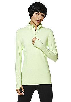 F&F Active Half Zip Top - Lime
