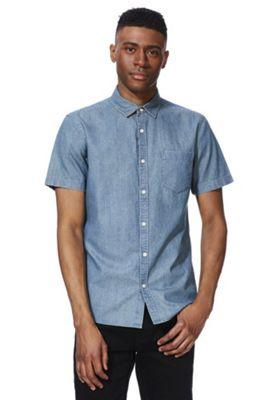 F&F Denim Short Sleeve Shirt Blue L