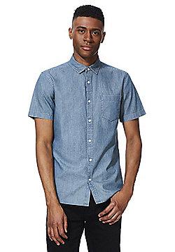 F&F Denim Short Sleeve Shirt - Blue