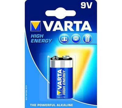 VARTA 9V High Energy Alkaline Batteries (Pack of 1)