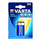 VARTA 9V High Energy Alkaline Batteries (Pack of 1)