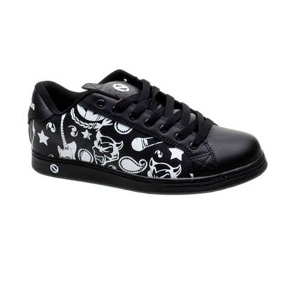 Odessa Open Print Black/White Shoe