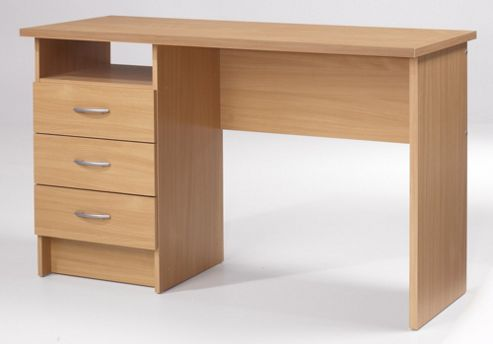 Tvilum Function Desk with Three Drawers in Beech