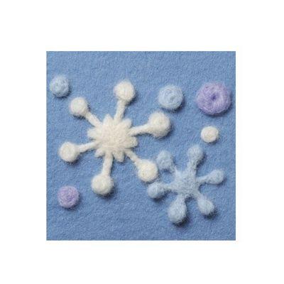 Clover Snow Crystal Needle Felting Applique Mould