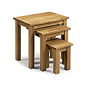 Coxmoor American White Oak Wooden Nest of 3 Tables Side Lamp Oiled Finish