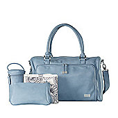 isoki Double Zip Satchel Eden Blue - Changing Bag